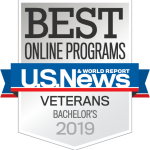US News, Best Online Programs for Veterans, Bachelor's, 2019.