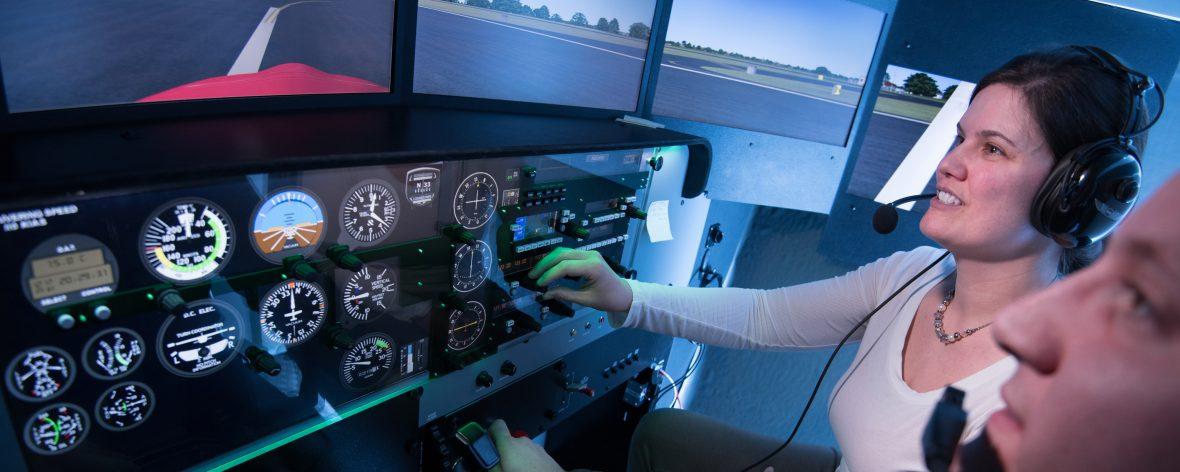UMA Aviation's Redbird Flight Simulator