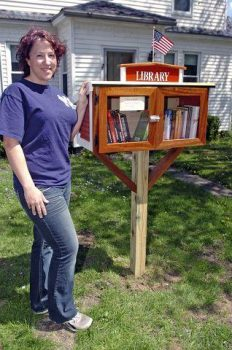 "UMA ILS Student Starts ""Little Library"" and has an interesting find"