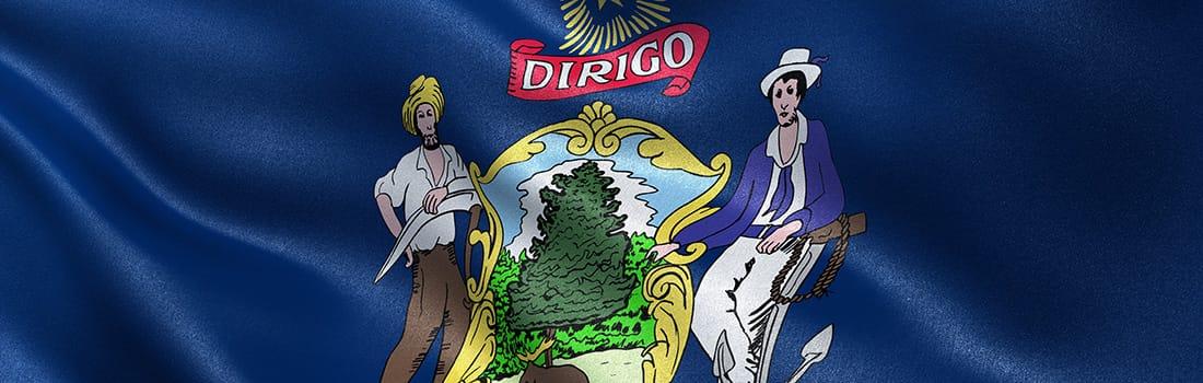 Maine State Flag & Motto - Dirigo - I Lead