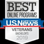Best Online Programs for Veterans,US News, Bachelor's 2019.,