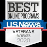 US News, Best Online Programs for Veterans, Bachelor's, 2020.