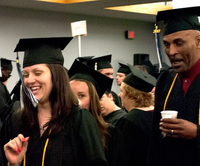 Candid Laughing Grads