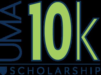 """UMA 10K Scholarship"" logo"