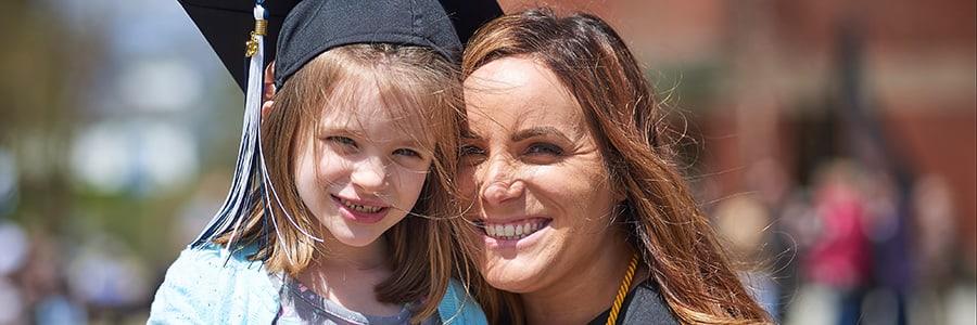 UMA Student & Daughter