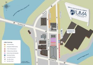 UMA Rumford Center Parking Map
