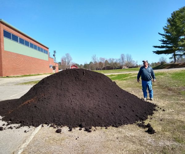 30 yards of topsoil delivered for our labyrinth in May, 2019.