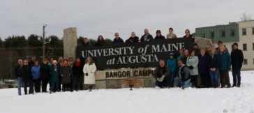 UMA Bangor Campus Marks Arrival of New Campus Sign