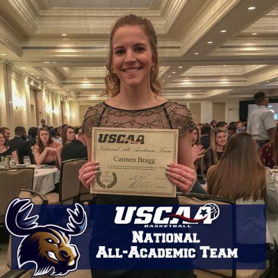 Carmen Bragg USCAA Academic All American