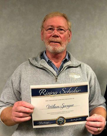 William Sprague recognized as UMA Rising Scholar