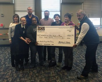 UCU Check Presentation for Food for Thought Food & Resource Center - Bangor