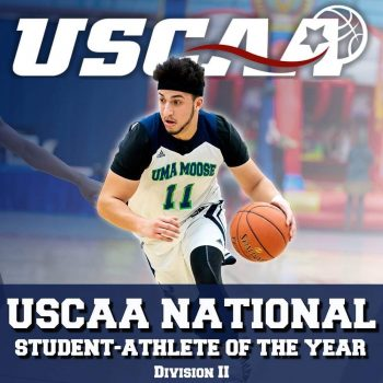 Noah Thompson: USCAA National Student Athlete of the Year, Division II.