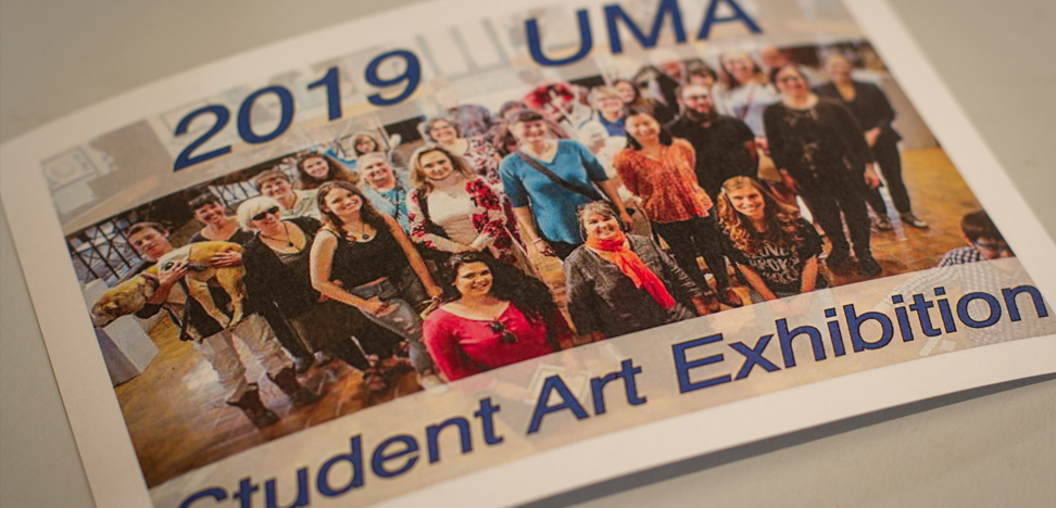 Photos from 2019 Juried Student Art Exhibition (representative pieces of student work) courtesy of Danforth Gallery.