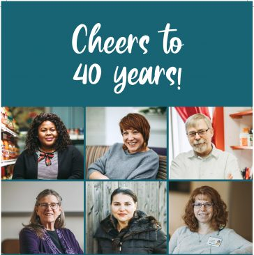 """Cheers to 40 years!"""