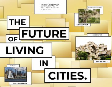 "Senior Ryan Chapman's Poster presentation ""The Future of Living in Cities"""