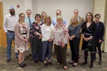Lewiston Adult Promise Collaborative representatives at a recent gathering at USM's Lewiston Auburn Campus.
