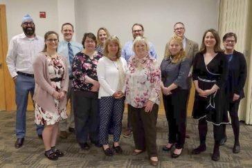 Lewiston Adult Promise Collaborative representatives at a recent gathering at USM's Lewiston Auburn Campus.