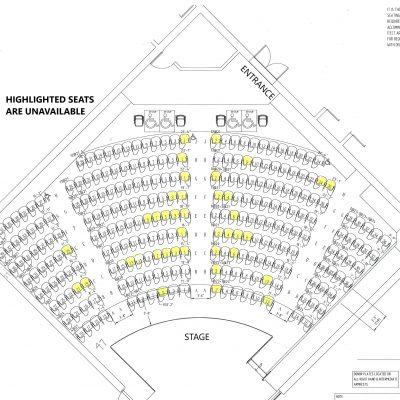 Jewett Hall Renovation Updated seating with reserved seats highlighted