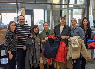 Photo from left to right: Melissa Cowing, Salute Coordinator at Togus Veterans Hospital; Michael Malone, UMA Veteran Student; Amy Line, UMA Director of Military and Veteran Services; Jacqueline Thiel, UMA Veteran Student; Leo Porter, UMA Veteran Student; Laurie Krzywda, UMA School Certifying Official; and Vaunalee Foster, VA Veteran Volunteer