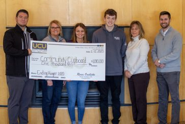 UCU presents check to SGA on the Augusta Campus