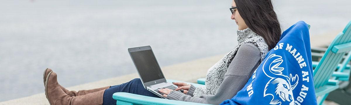 UMA Student Studying Remotely
